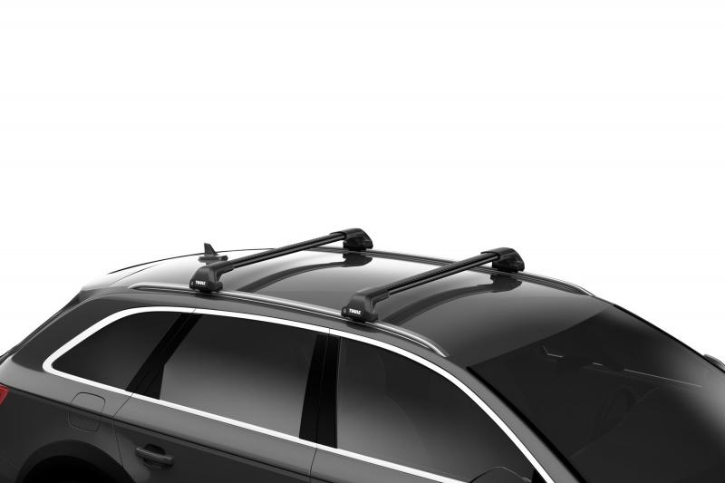 Thule Edge aerodinaminiai juodi stogui su integruotais reilingais