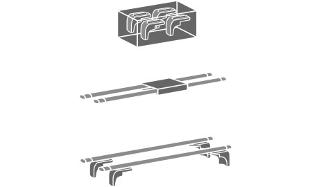 Mont Blanc AMC aerodinaminiai skirti ant integruotų reilingų