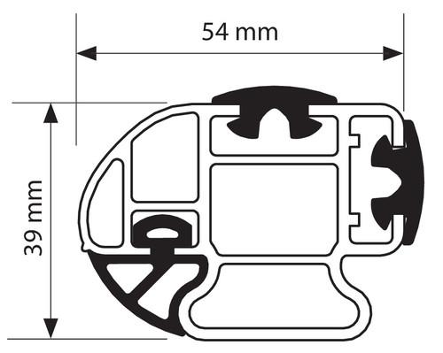 Nordrive aerodinaminiai skersiniai Volkswagen