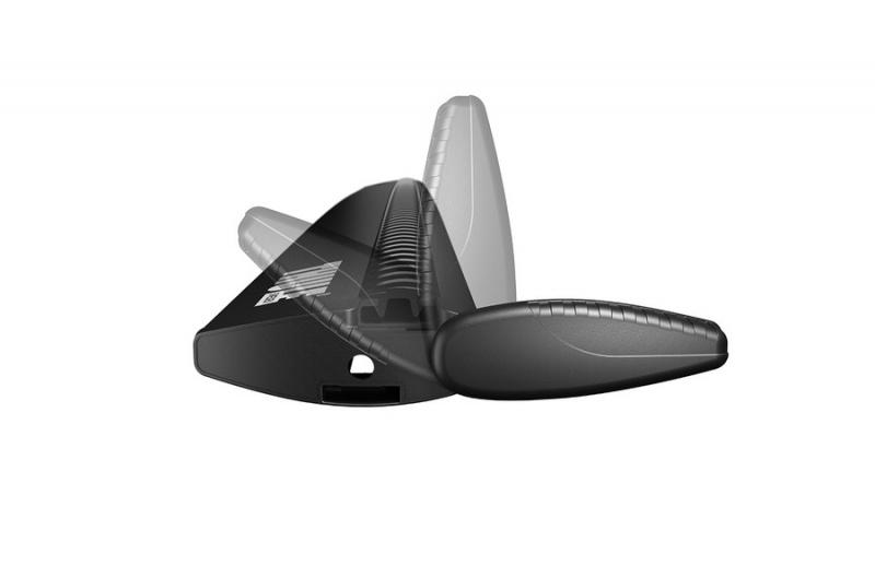 Thule aerodinaminiai juodi stogui su bėgeliais